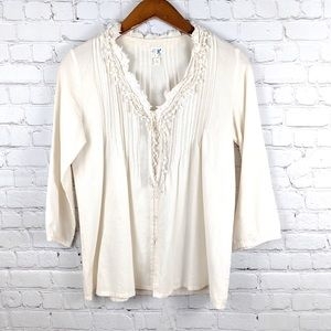 Anthropologie edmé & esyllte 3/4 Sleeve blouse